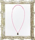 【CLEARANCE-SALE 70%OFF|3,780円→1,134円】  joujou ジュジュ MARK CHARM NECKLACE -RIBBON-{-}{PS40}