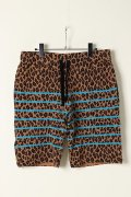【CLEARANCE-SALE 60%OFF|23,760円→9,504円】  ARMED アームド LEOPARD BORDER  SHORT PANTS{-AES}{EGS60}