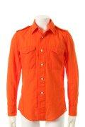 {※セール価格・ご購入方法はお問合せください} 1piu1uguale3 ウノピュウノウグァーレトレ GIZA COTTON GAUZE ARMY SUMMER SHIRT shirts{MRS035-COT089-37-ADA}{GS30}