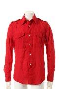 {※セール価格・ご購入方法はお問合せください} 1piu1uguale3 ウノピュウノウグァーレトレ GIZA COTTON GAUZE ARMY SUMMER SHIRT shirts{MRS035-COT089-45-ADA}{GS30}