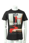 【SUMMER-SALE 30%OFF|40,629円→28,441円】  PHILIPP PLEIN HOMME フィリッププレインオム t-shirt penthouse naked{SS13-HM9201-BLK-ACS}{PS30}