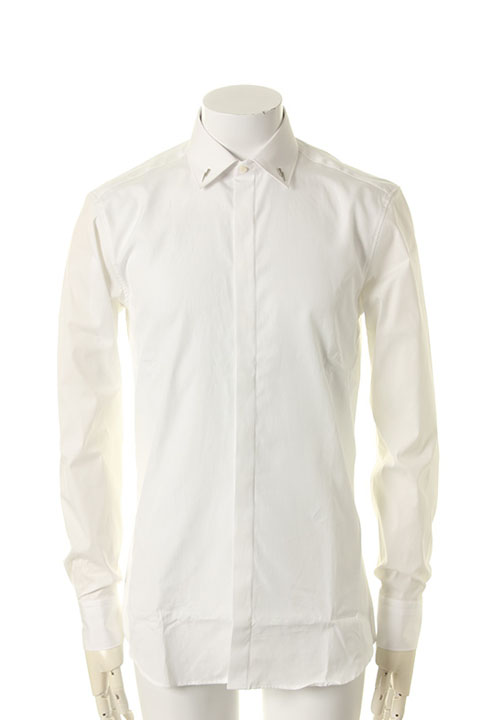 Sold neil barrett metal bolt collar tuxedo shirt for Neil barrett tuxedo shirt