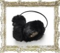 joujou ジュジュ EAR MUFFLER-BLACK-{-ACA}