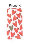 IPHORIA アイフォリア HEARTS RED【iPhone X】{-AGA}