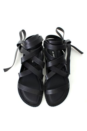 画像4: ANN DEMEULEMEESTER アンドゥムルメステール SHOES VACCHETTA NERO+GUARDOLINO NERO&CUCITURE NERO{1901-4230-378-099-BLK-AIS}