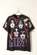 Vintage KISS 1992 AOP MEMBER FACE TEE HANES{-BAA}