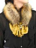 dictionary ディクショナリー Fur and Ruffled collar{A11-LL1-NE01-01-}