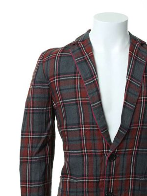 画像4:  {価格・ご購入方法はお問い合わせください} AKM エーケーエム WASHABLE ITALY LINEN collection wrinkle jacket{-ACS}{OS_65}