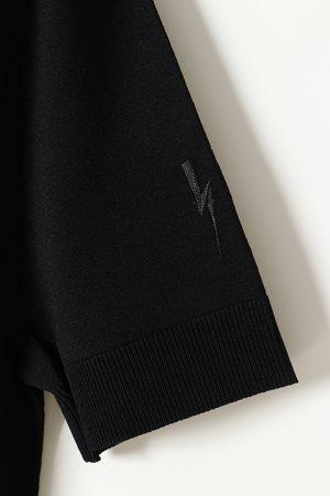 画像4: Neil Barrett ニールバレット TRAVEL DOUBLE V-NECK TECNO KNIT T-SHIRT 16GG{BMA1061E-N610-01-BJS}
