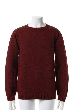 画像1: AKM エーケーエム wool / cow army knit{-ACA}{OS_65}