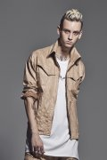 kiryuyrik キリュウキリュウ Coating Suede High Collar Blouson{KJ-HB19-903-1BEG-BJS}