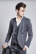 kiryuyrik キリュウキリュウ Silver925 Wooly Wool Gaba Jacket{KZ-HJ10-102-1GRY-AGS}