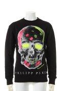 """PHILIPP PLEIN HOMME フィリッププレインオム Sweatshirt LS """"Color Skull""""{-AHS}"""