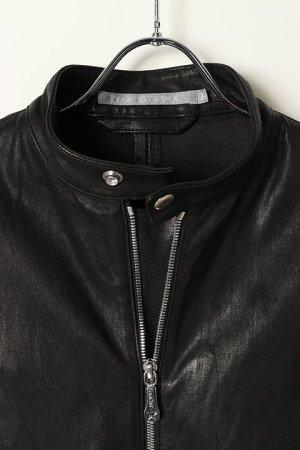 画像2: 【 10%OFF セール 173,800円→156,420円】 FranCisT_MOR.K.S.  フランシストモークス Stretch Lamb Leather JKT{-BJA}