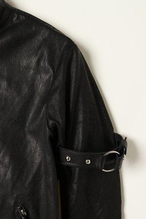 画像3: 【 10%OFF セール 173,800円→156,420円】 FranCisT_MOR.K.S.  フランシストモークス Stretch Lamb Leather JKT{-BJA}