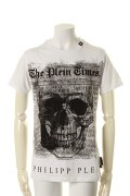 "PHILIPP PLEIN HOMME フィリッププレインオム T-Shirt Round neck SS ""Use""{-AGA}"