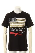 "PHILIPP PLEIN HOMME フィリッププレインオム T-Shirt Round Neck SS""Up""{-AGA}"
