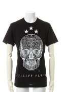 "PHILIPP PLEIN HOMME フィリッププレインオム T-shirt Round Neck SS ""Sav something""{-AHS}"