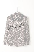{SOLD}Kaon カオン ANIMAL PRINT BLOUSE{-AIS}