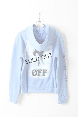 画像2: {SOLD}Off-white オフホワイト BLUE LIBERTY HOODIE{OMBB034E18192015-BLU-AHA}
