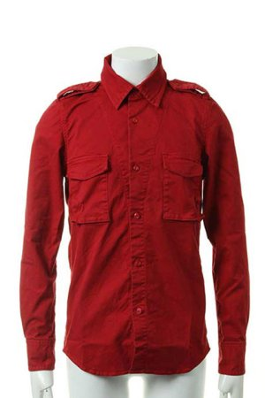 画像1:  {価格・ご購入方法はお問い合わせください} AKM エーケーエム vintage strectch cotton L/S dress Shirts{-ACS}{OS_65}