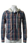 ▽ 65%OFF アウトレットセール35,200円→12,320円▽ AKM エーケーエム WRANGLER denim collection check westerm hooded{-ACS}