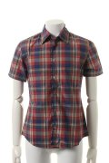 【 50%OFF セール|14,300円→7,150円】 VADEL バデル typewriter check selvage-wire shirts S/S{-ADS}