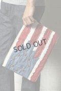 {SOLD}TMT ティーエムティー NATIVE U.S.FLAG CLUTCH BAG{-AHA}