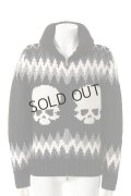 {SOLD}GEMMA.H UOMO ジャンマアッカウォモ SUPERGEELONG KNIT KOWICHAN SKULL JAQUARD15{USG-CW15T-110P-BLK-AEA}